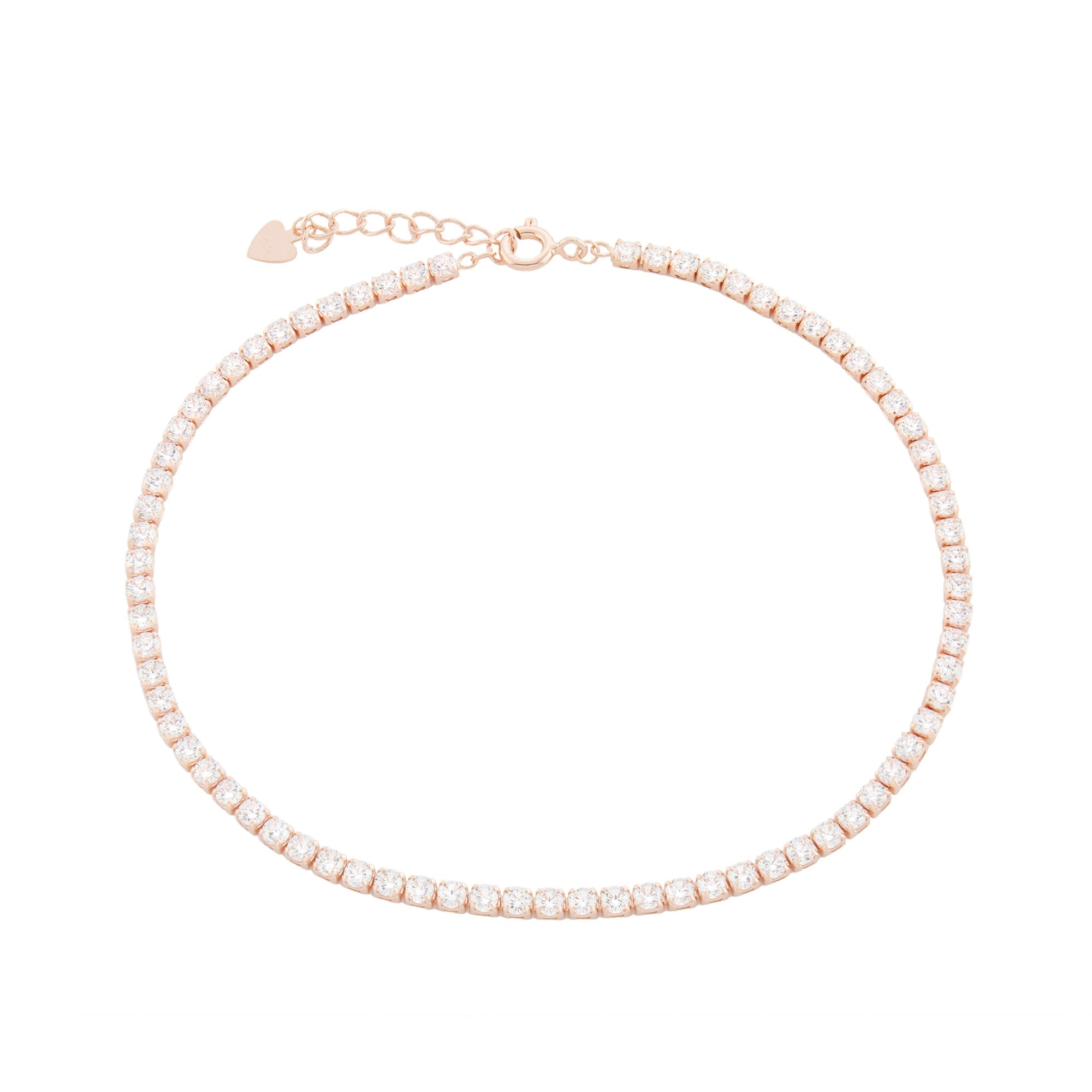 bridesmaid round bracelet cassidy gold zirconia faux crystal clear cut anklet classic fashion products diamond wedding carat tennis cz cubic jewelry bridal