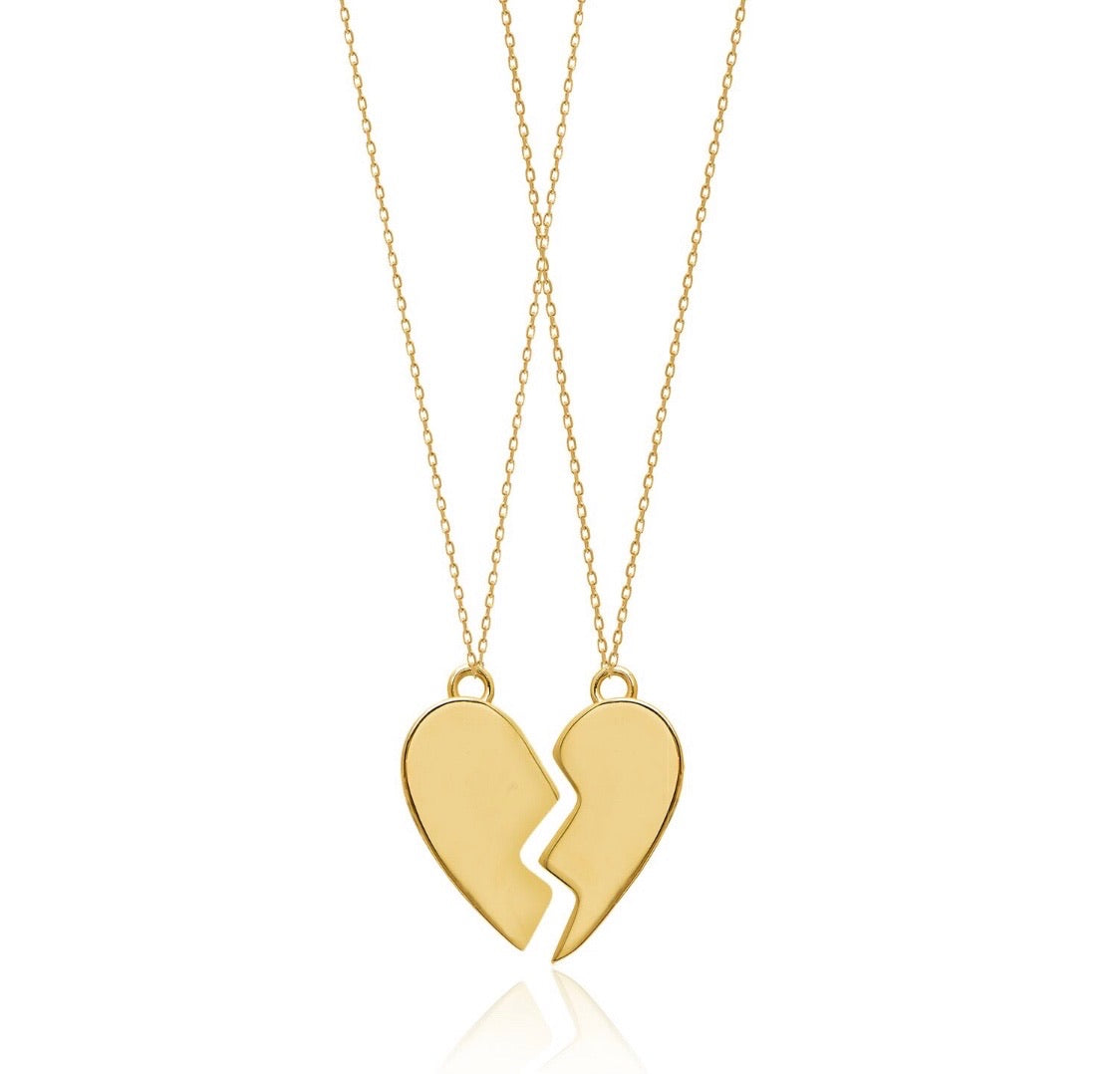 BFF HEART PENDANT SET