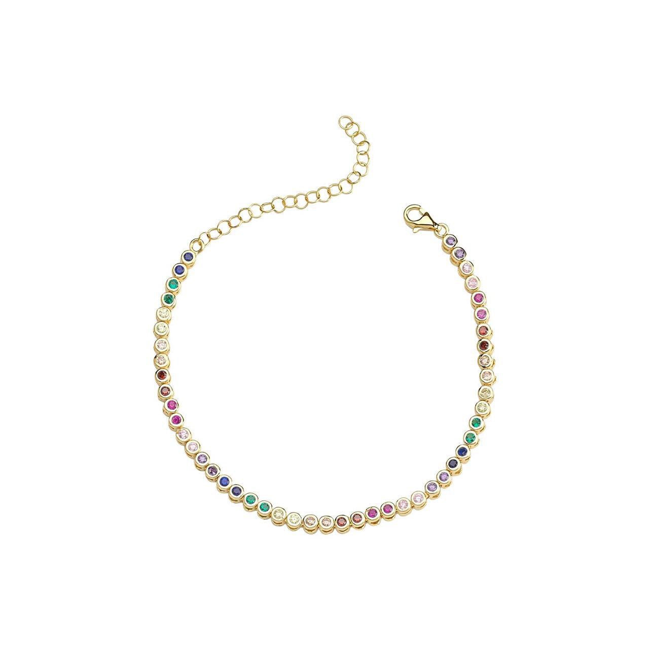 Multi Color Tennis Bracelet