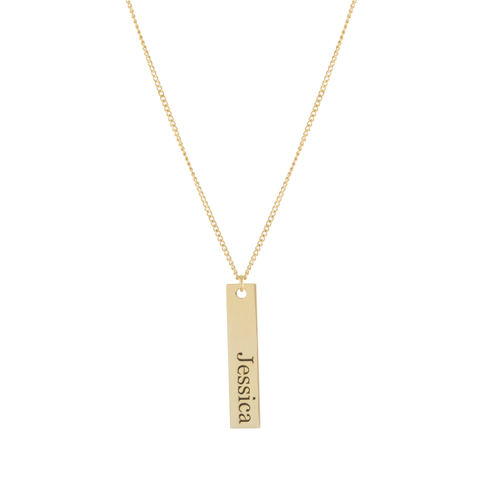 Bar Name Necklace