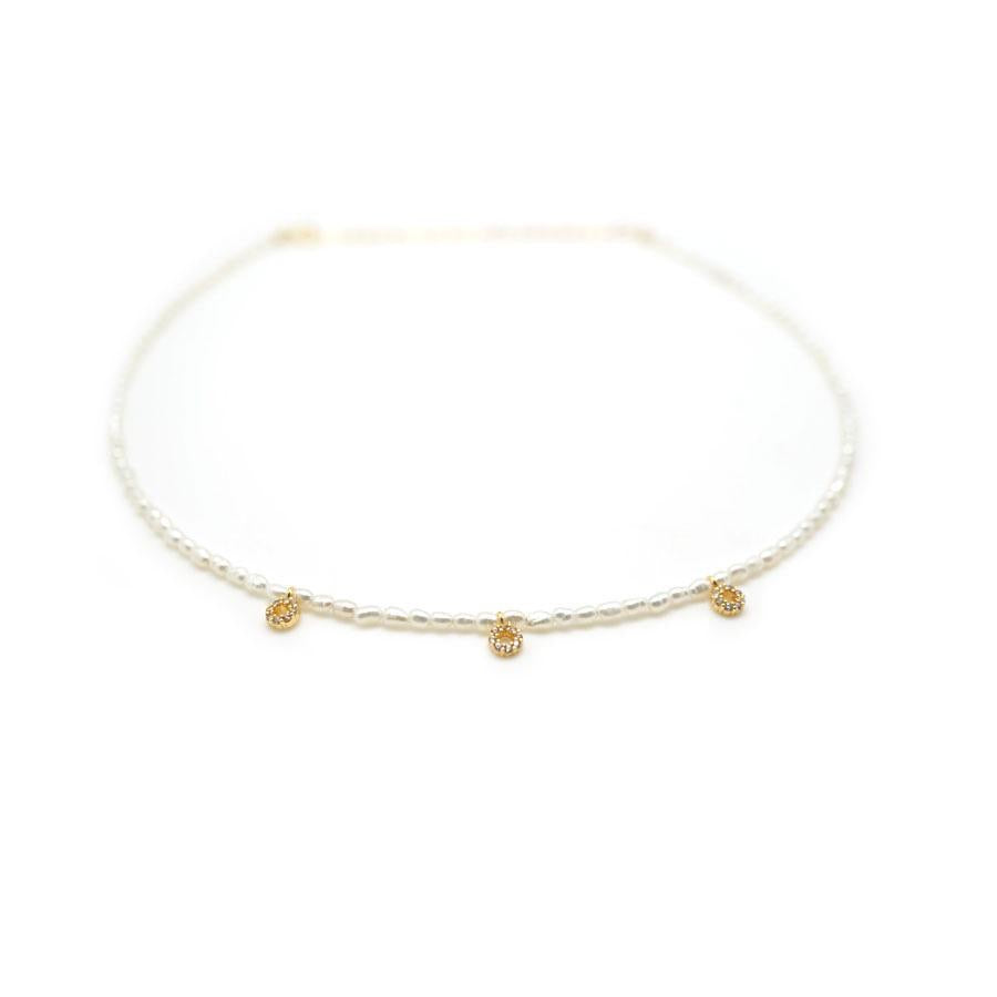 Triple Circle Pearl Choker