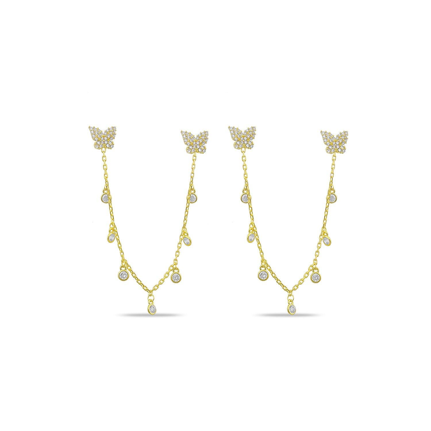 Butterfly Dangle Chain Earring