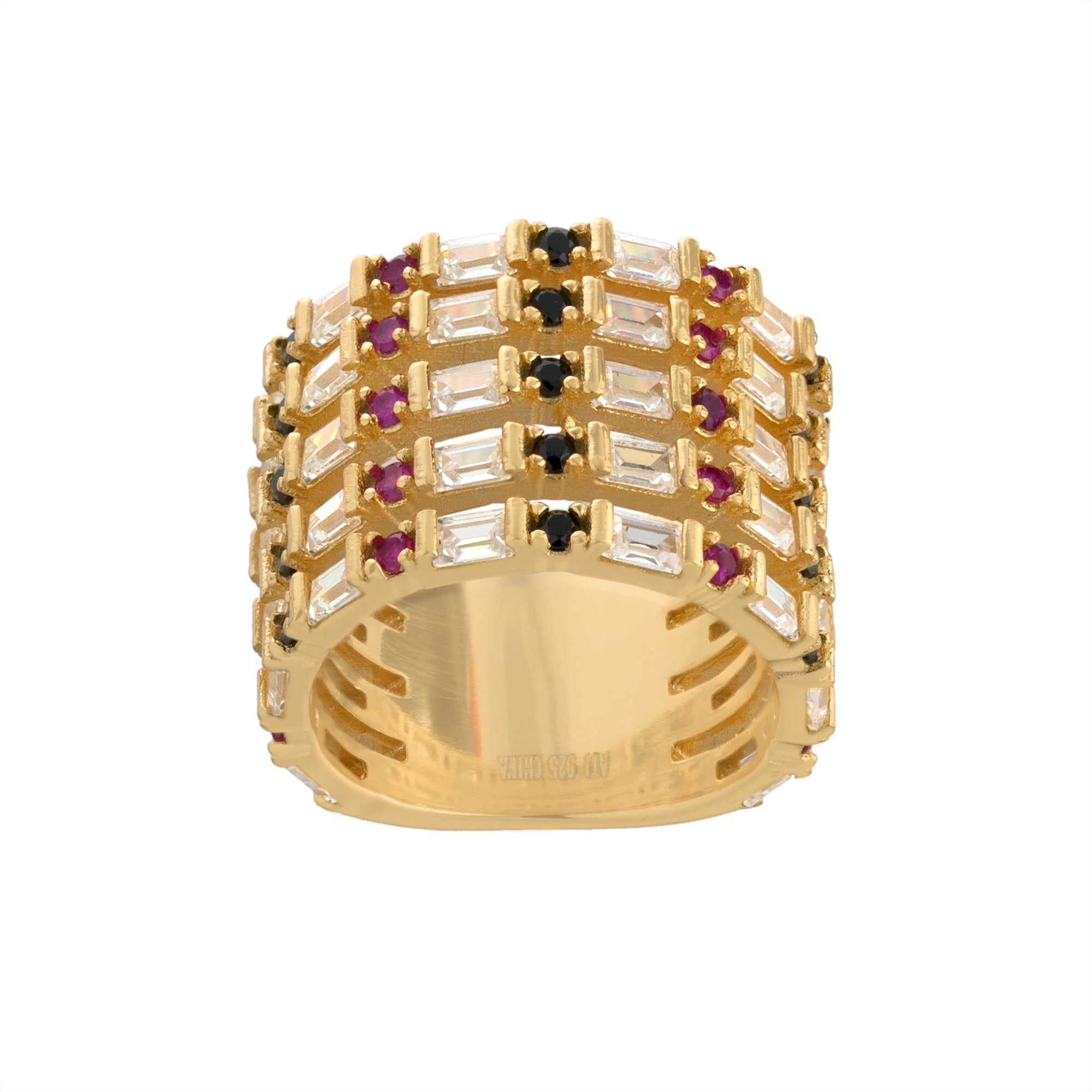 Multi Layer Baguette Ring