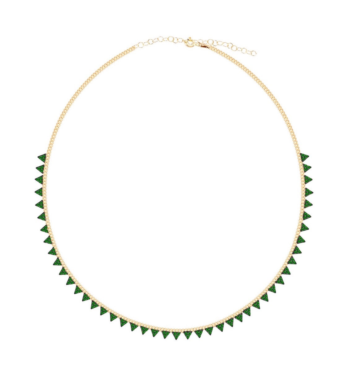 Emerald Spike Necklace