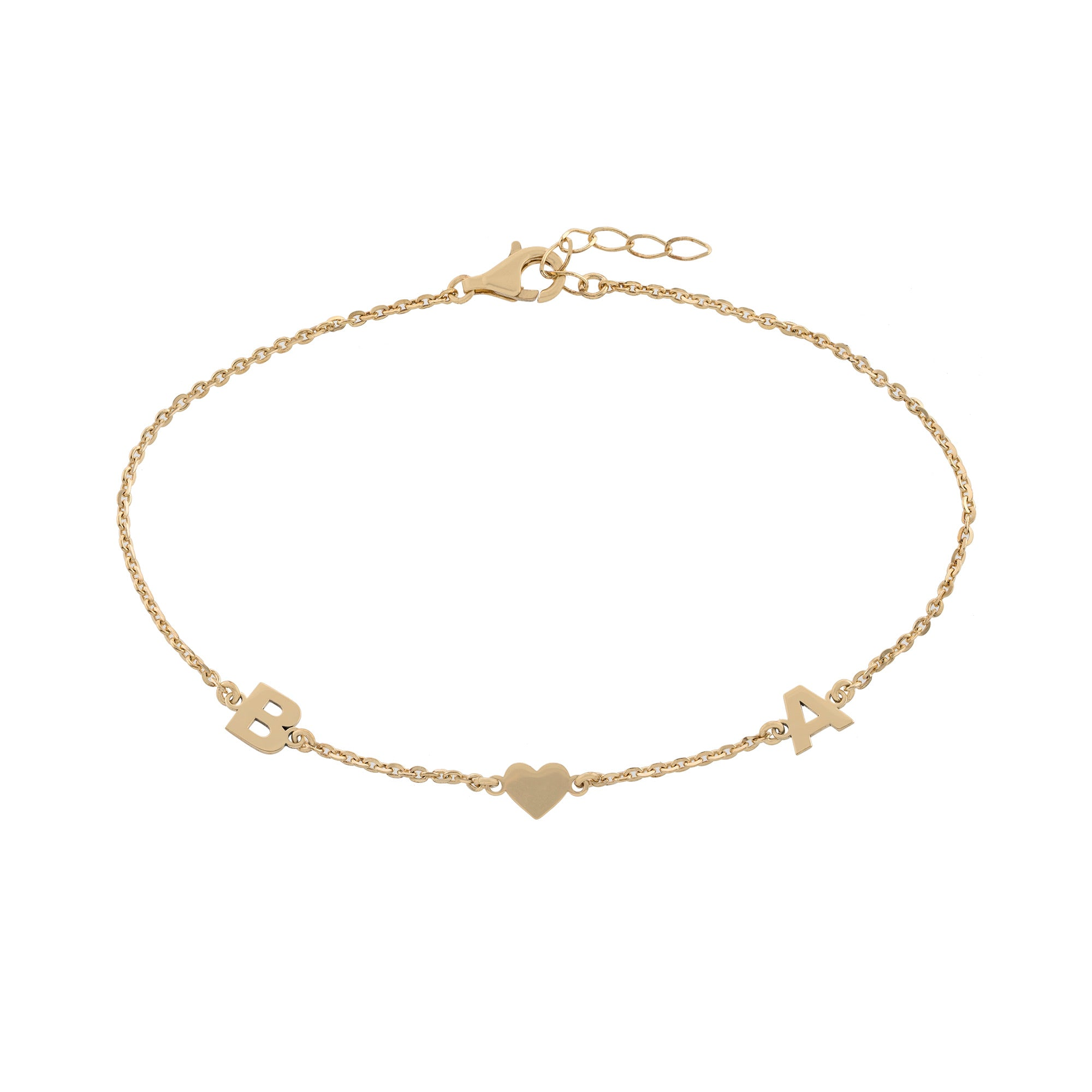 Initial Heart Initial Anklet