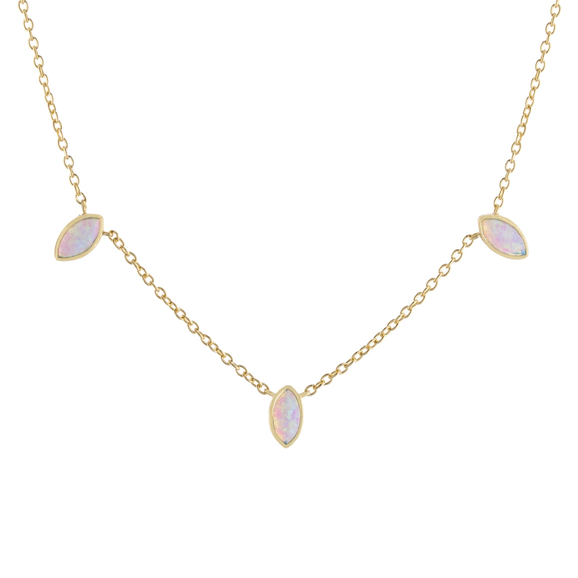 Triple Opal Necklace