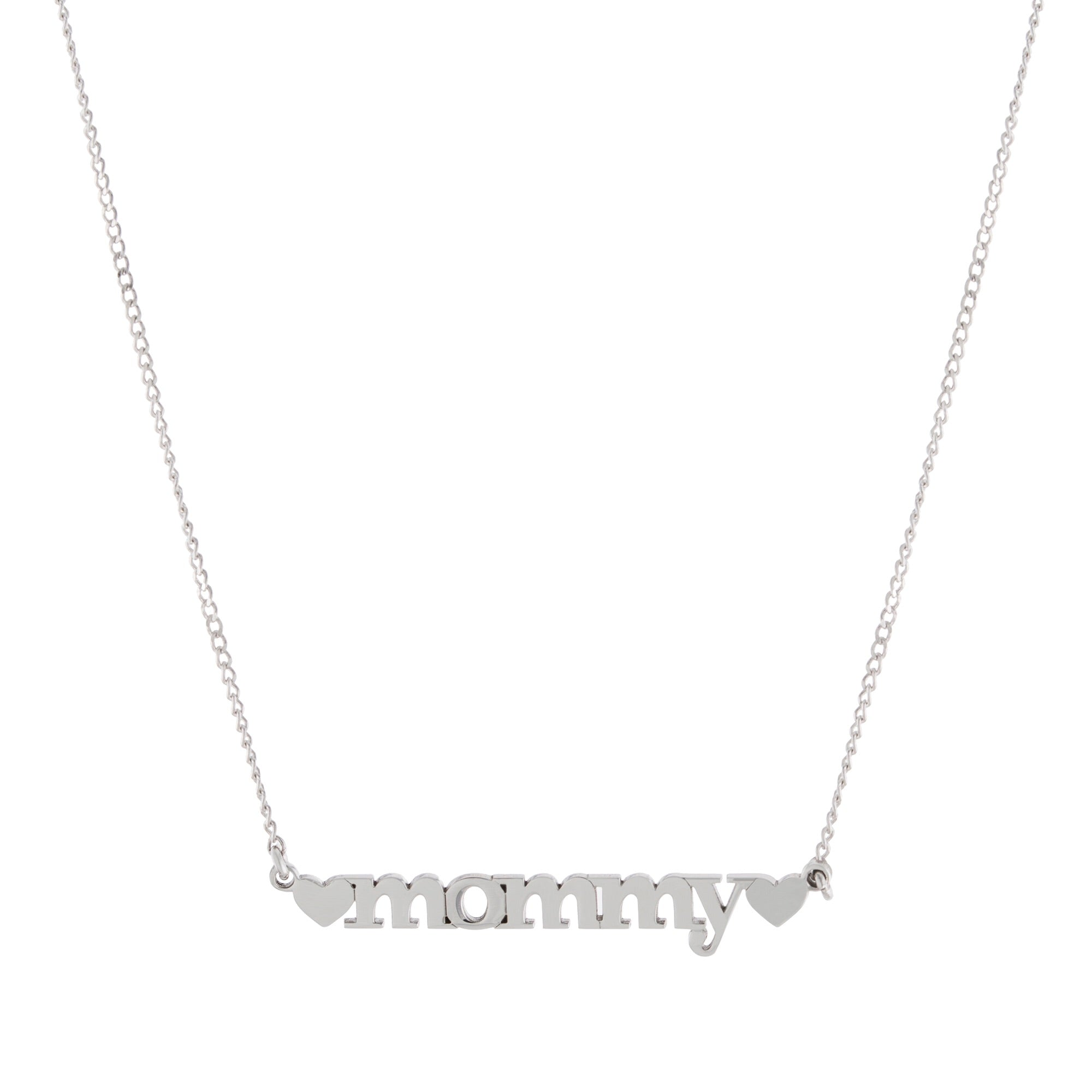 Double Heart Name Necklace