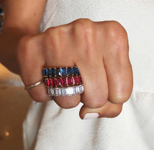 Multi Color Baguette Ring
