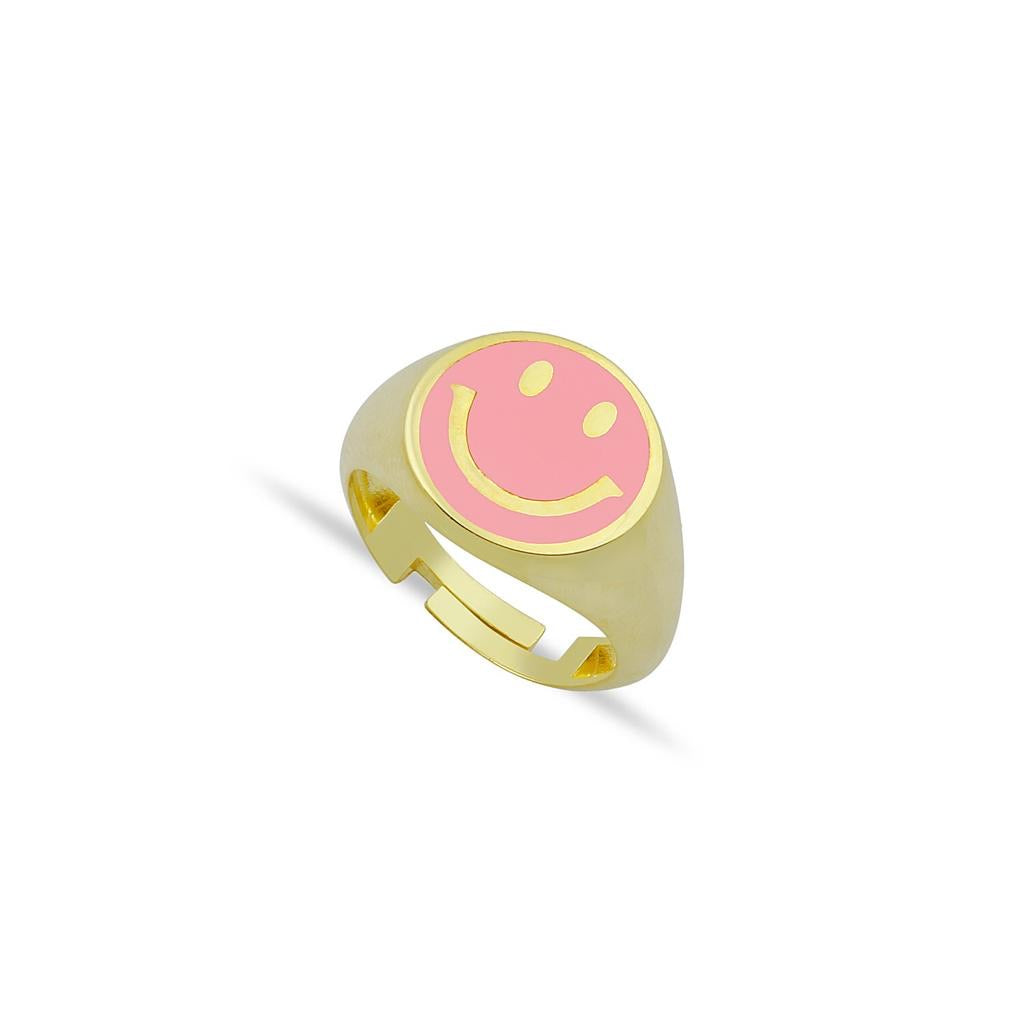 Smiley Signet Ring