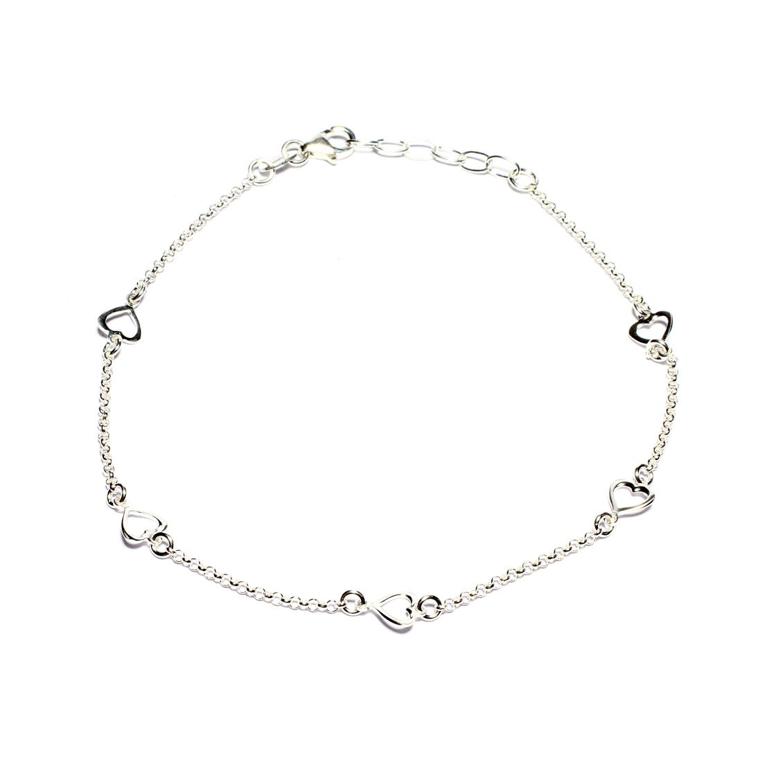 Hollow Heart Anklet