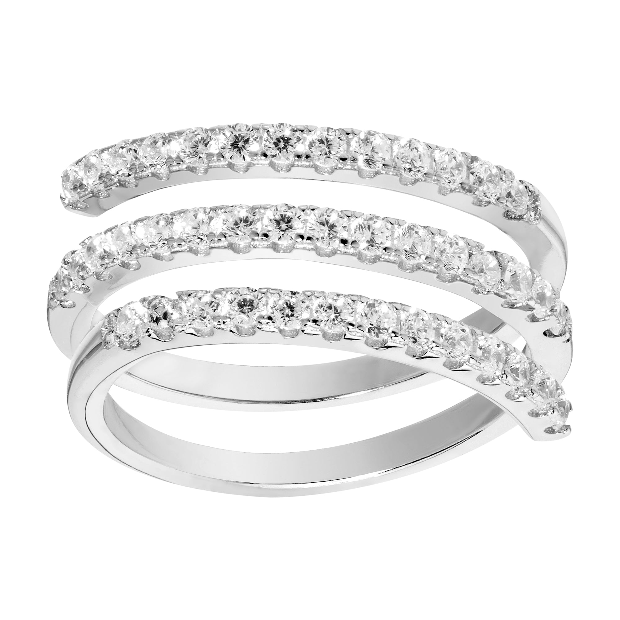 Pavé Triple Wrap Ring