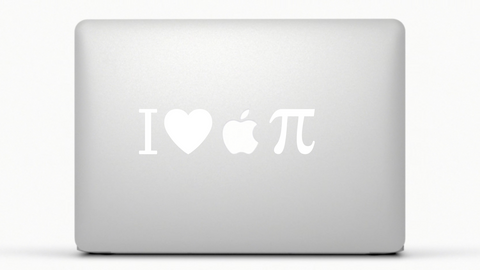 I Heart  Pi MacBook