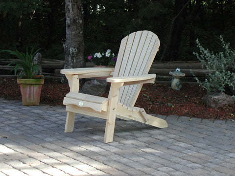 Bear Chair Folding Pine Chair Kit