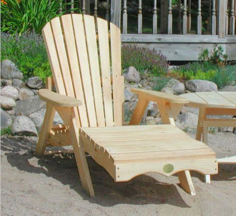 Bear Chair Pine Chaise Lounge Kit