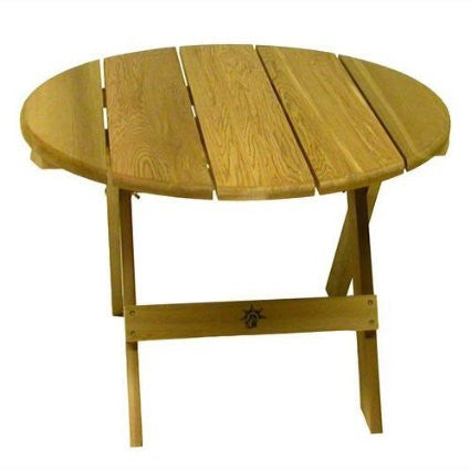 Bear Chair Pine 28 Inch Folding Side Table