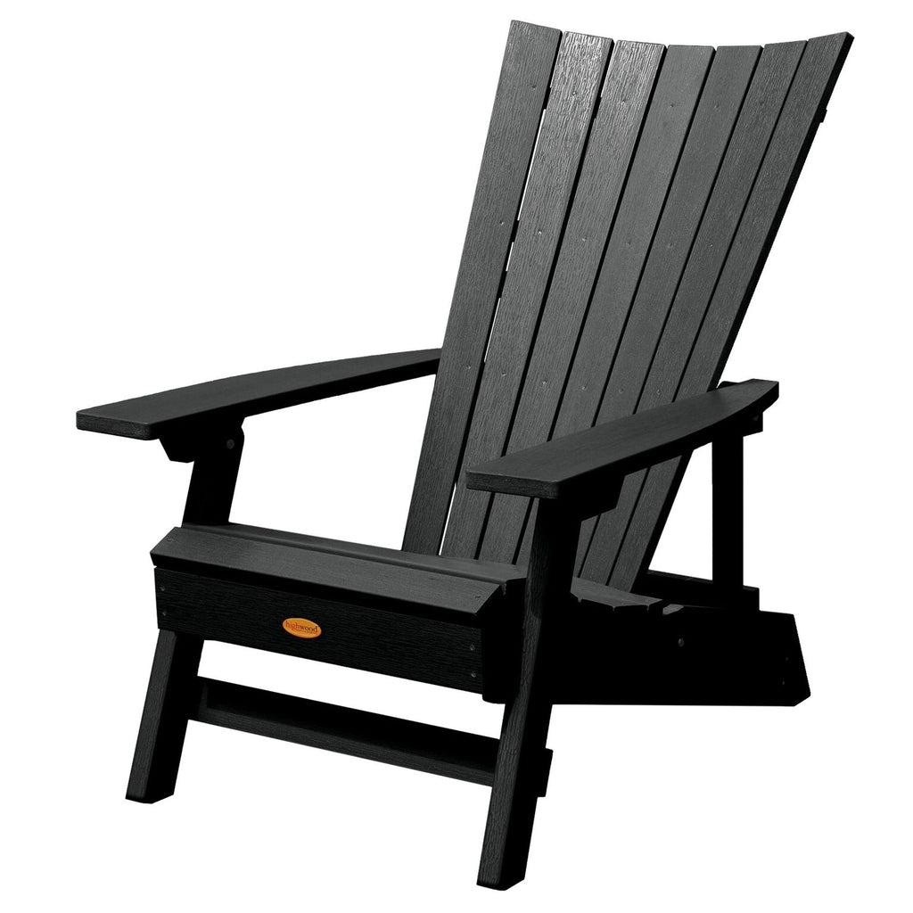 Highwood® Manhattan Beach Adirondack Chair - Black