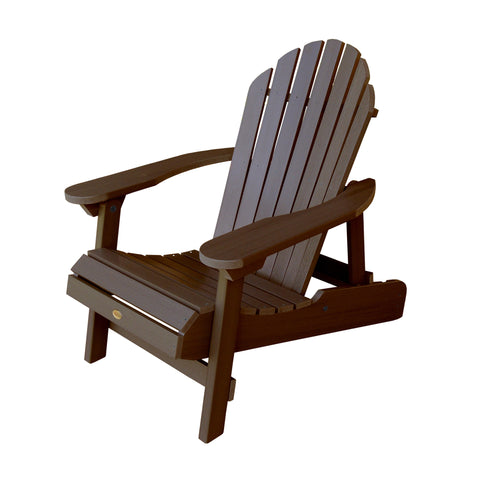highwood hamilton folding u0026 reclining adirondack chair weathered acorn
