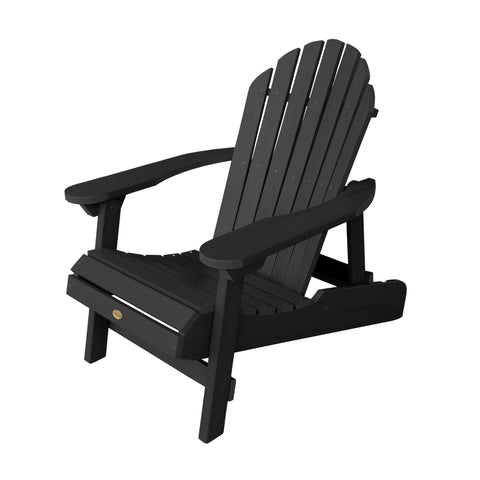 Highwood® Hamilton Folding & Reclining Adirondack Chair - Black