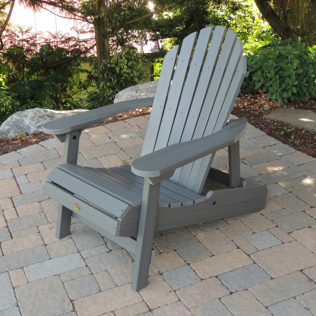 Highwood® Hamilton Folding u0026 Reclining Adirondack Chair - Coastal Teak & Highwood® Hamilton Folding u0026 Reclining Adirondack Chair - Coastal ... islam-shia.org