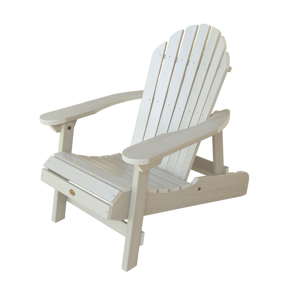 Highwood Hamilton Folding Reclining Adirondack Chair White Wash