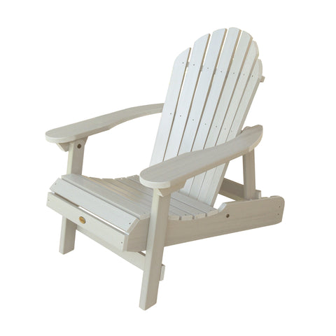 Highwood® Hamilton Folding & Reclining Adirondack Chair - White Wash