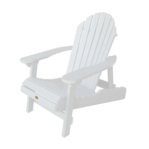 Highwood® Hamilton Folding & Reclining Adirondack Chair - White