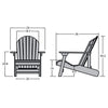 Highwood® Hamilton Folding & Reclining Adirondack Chair - Charleston Green