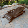 Highwood® KING Hamilton Folding & Reclining Adirondack Chair - Weathered Acorn