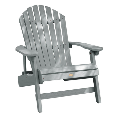 Highwood® KING Hamilton Folding & Reclining Adirondack Chair - Coastal Teak
