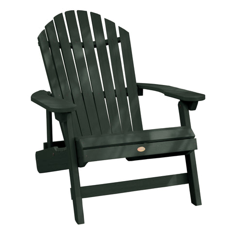 Highwood® KING Hamilton Folding & Reclining Adirondack Chair - Charleston Green