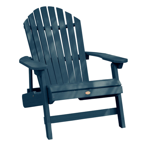 Highwood® KING Hamilton Folding & Reclining Adirondack Chair - Nantucket Blue