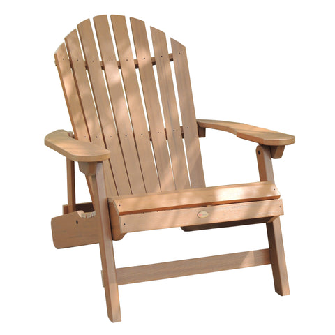 Highwood® KING Hamilton Folding & Reclining Adirondack Chair - Toffee