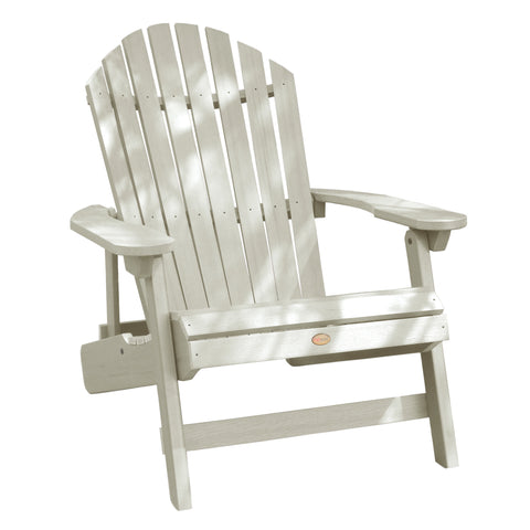 Highwood® KING Hamilton Folding & Reclining Adirondack Chair - White Wash