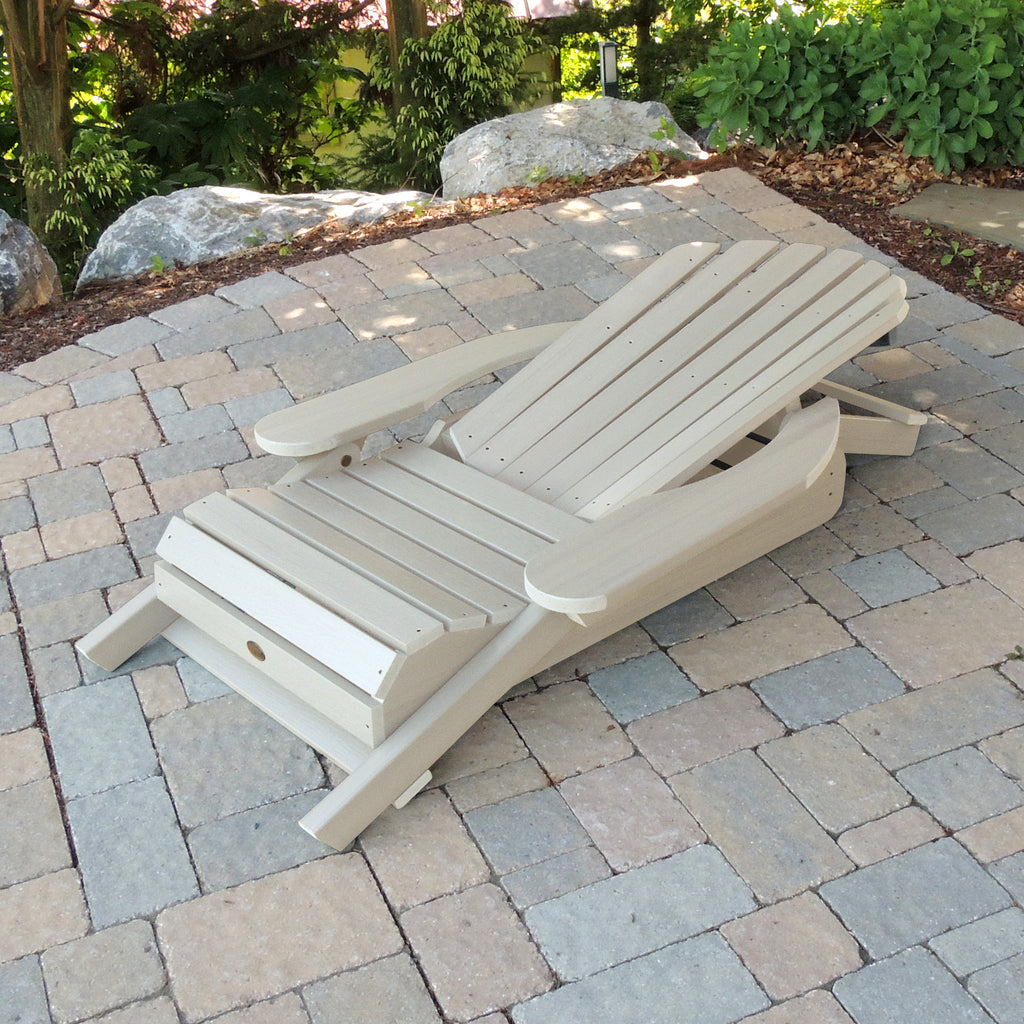 Highwood King Hamilton Folding Reclining Adirondack Chair White