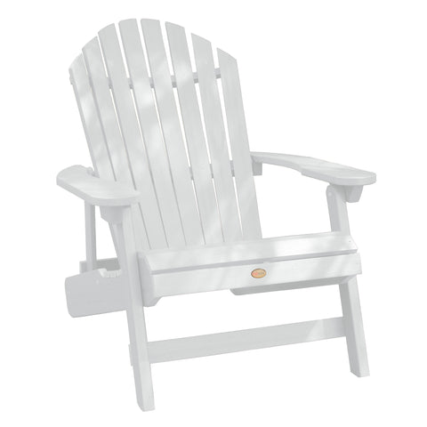 Highwood® KING Hamilton Folding & Reclining Adirondack Chair - White