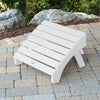 Highwood® Folding Adirondack Ottoman - White
