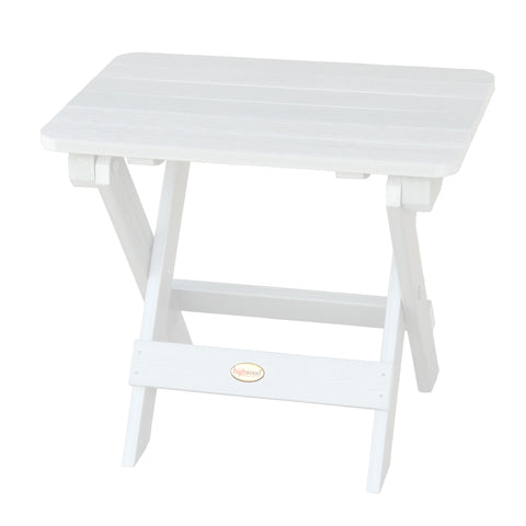 Highwood® Folding Adirondack Side Table   White