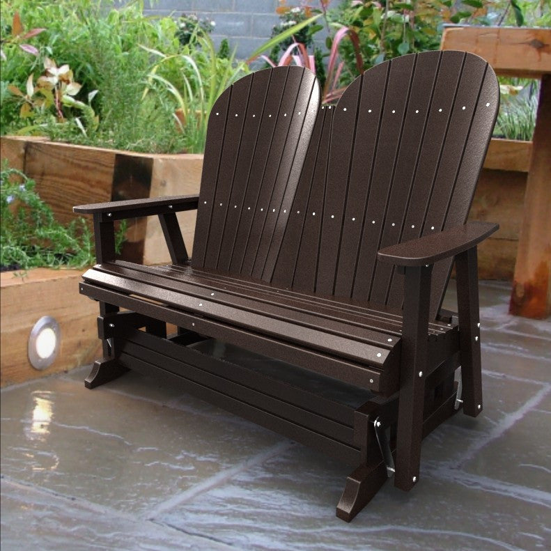 Malibu Outdoor Living Jamestown Adirondack Double Glider - Dark Brown