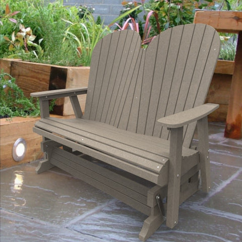 Malibu Outdoor Living Jamestown Adirondack Double Glider - Sand