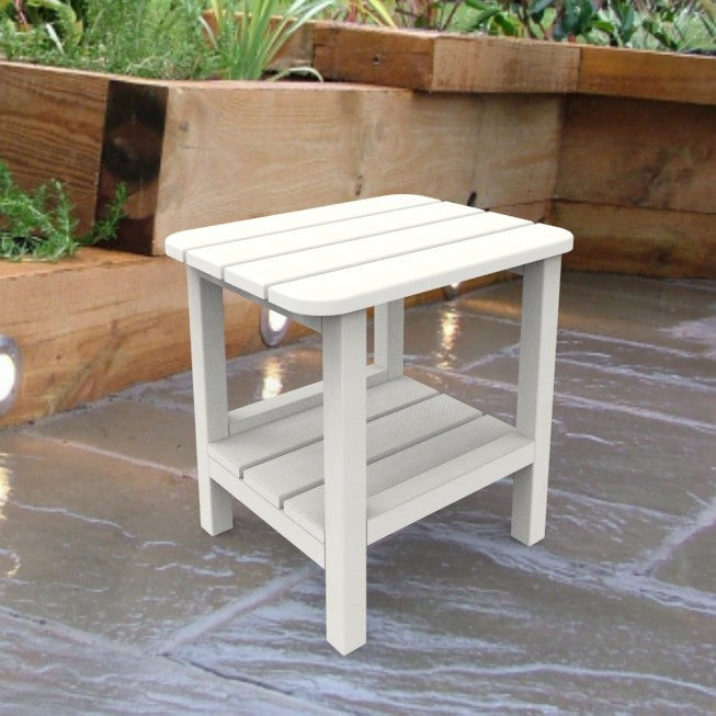 Malibu Outdoor Living End Table - White