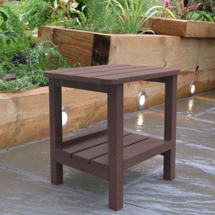Malibu Outdoor Living End Table - Cherry