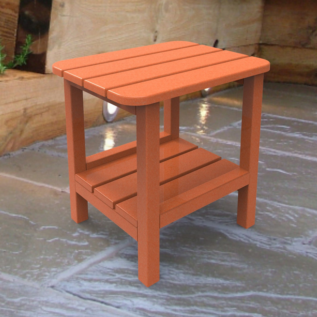 Malibu Outdoor Living End Table - Tangerine