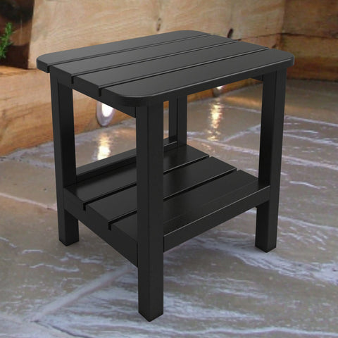 Malibu Outdoor Living End Table - Black
