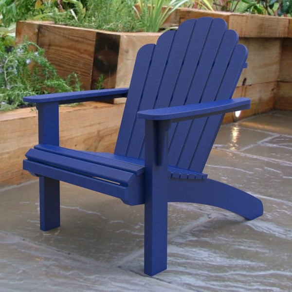 malibu outdoor living hampton adirondack chair blue