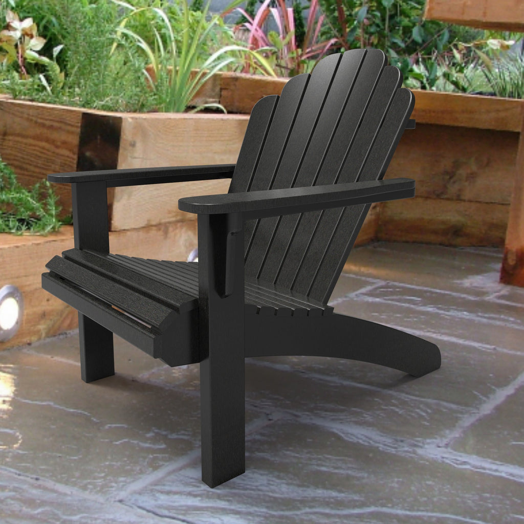 Malibu Outdoor Living Hampton Adirondack Chair - Black