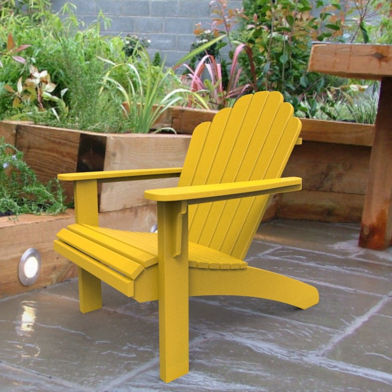 Malibu Outdoor Living Hampton Adirondack Chair - Yellow