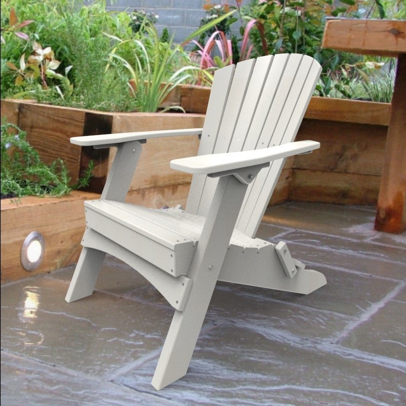 Malibu Outdoor Living Hyannis Folding Adirondack Chair - White