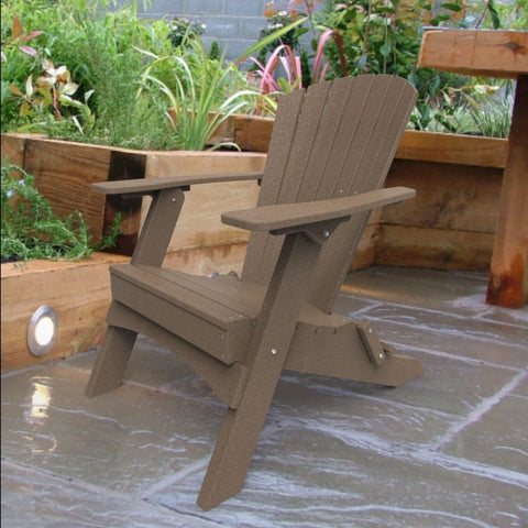 Malibu Outdoor Living Hyannis Folding Adirondack Chair - Weathered Wood