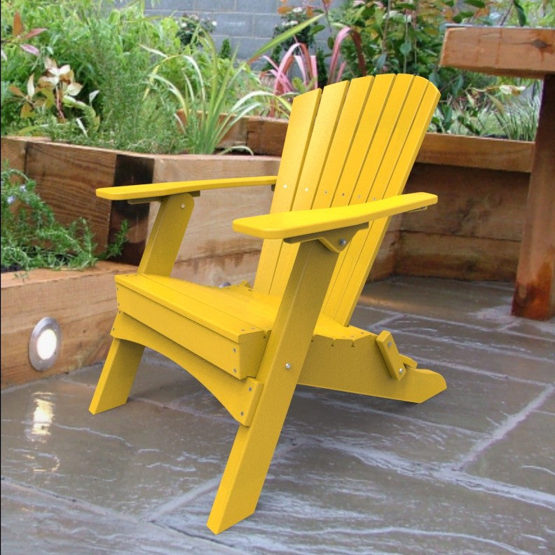 Malibu Outdoor Living Hyannis Folding Adirondack Chair - Yellow