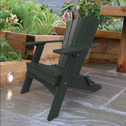 Malibu Outdoor Living Hyannis Folding Adirondack Chair - Turf Green